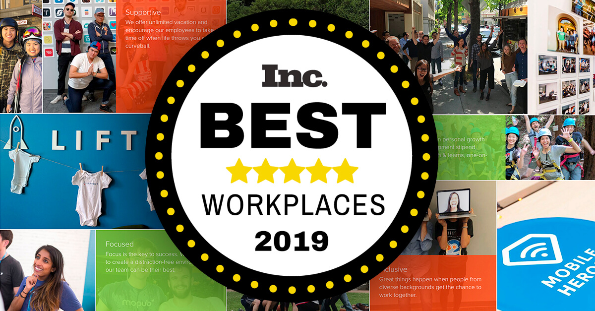 Inc. Magazine Ranks Liftoff on Best Workplaces 2019 List